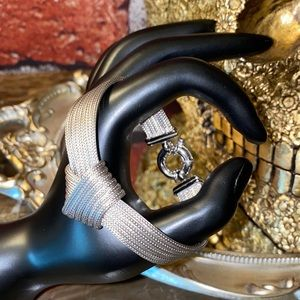 .925 Sterling Silver Knotted Bracelet